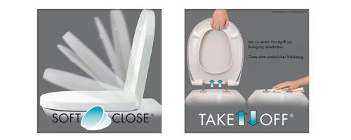 cedo wc sitz daytona beach softclose takeoff toilettendeckel klobrille neu ebay. Black Bedroom Furniture Sets. Home Design Ideas